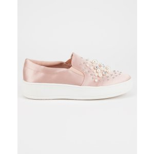 SODA Pearl Rhinestone Womens Slip-On Shoes | Sneakers