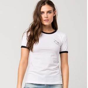 RIOT SOCIETY Unicorn AF Womens Ringer Tee 295811168 | Tops