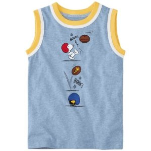 Peanuts Boys Tank in Supersoft Jersey from Hanna Andersson