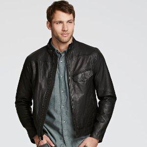 Timberland | Men's Kinsman Leather Café Racer Jacket