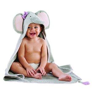 Amazon.com : Baby Aspen Splish Splash Elephant Bath Hooded Spa Towel, Gray : Baby
