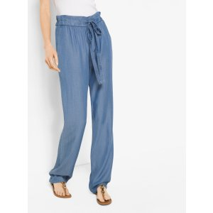 Chambray Tie-waist Pants | Michael Kors