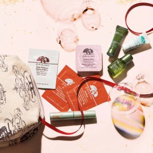 Free 9-piece Kit + Free Shipping With any $45 purchase @ Origins