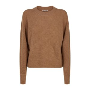 Whistles Dolman Ribbed Wool-Cashmere Sweater
