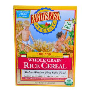 Earth's Best Organic Whole Grain Rice Cereal -- 8 oz