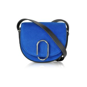 3.1 Phillip Lim Electric Blue Suede Alix Mini Saddle Bag