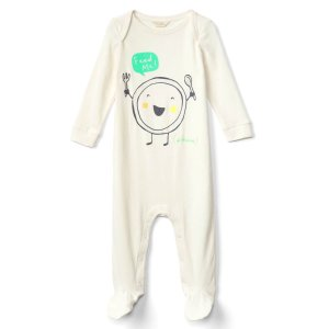 Organic feed me footed one-piece | Gap