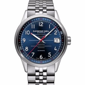 $659 ( Orig $1,795 )RAYMOND WEIL 2754-ST-05500 MEN'S FREELANCER WATCH