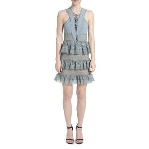 Romeo & Juliet Couture Lace Up Front Dress | Bluefly.Com