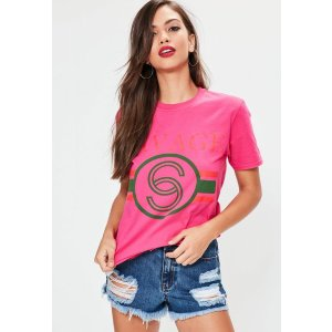 Pink Savage Graphic T-Shirt