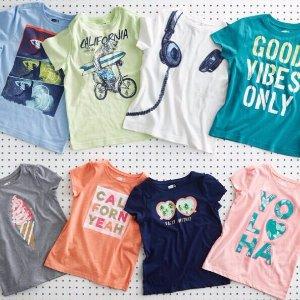 全场一律$2.88包邮最后一天:Crazy8 海量儿童T恤促销 比买块抹布都便宜