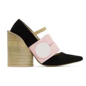 Multicolor 'Les Chaussures Ceintures' Heels