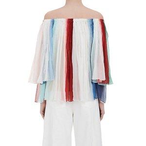 Chloé Silk Off-The-Shoulder Blouse   Barneys Warehouse