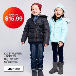 一律$15.99Macy's 儿童冬季防寒服黑色星期五特价提前享