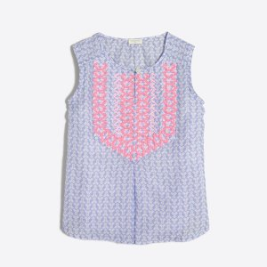 Girls' printed embroidered top : Shirts, T-Shirts & Tops | J.Crew Factory