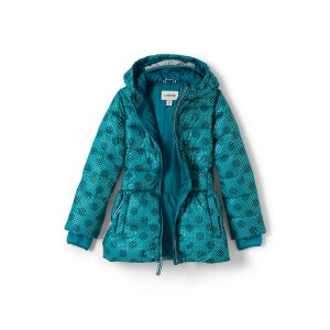 Girls Midweight Down Printed Parka
