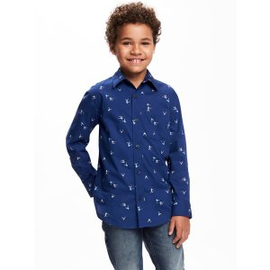 Classic Printed Poplin Shirt for Boys | Old Navy