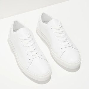 Park Leather Low-Top Sneakers in White | Frank + Oak