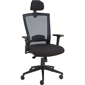 Staples Telfair™ Black Mesh Chair with Headrest   Staples®