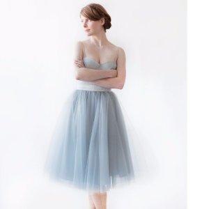 Gretta Tulle Skirt - Dusty Blue - 30