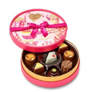 Limited Edition Slices of Love Round Chocolate Gift Box, 9 pc.