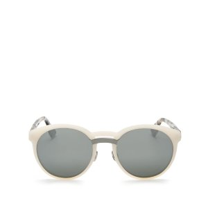 Dior Onde Mirrored Round Sunglasses, 53mm | Bloomingdale's