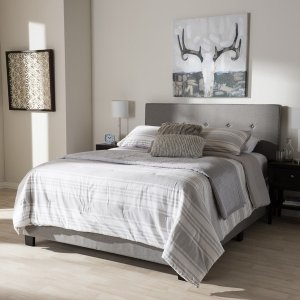 Contemporary Fabric Bed by Baxton Studio | Overstock.com Shopping - The Best Deals on Beds