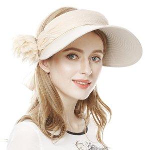 $11 Lovful UPF 50+ Womens Foldable Wide Large Big Brim Beach Hat Cap Summer Sun Hat
