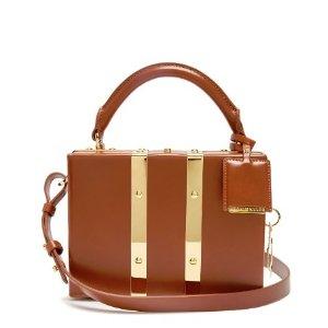 Sophie Hulme Mini Albany leather box bag