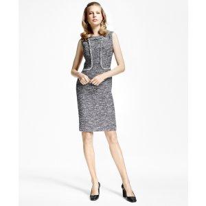 Tweed Fringe Sheath Dress - Brooks Brothers