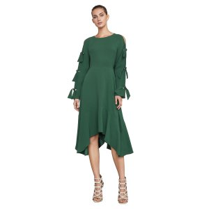 Cicely Sleeve-Tie Dress