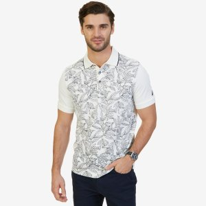 Classic Fit Printed Polo Shirt - Marshmallow | Nautica