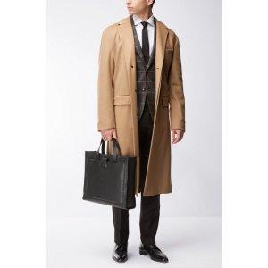 Virgin Wool Cashmere Long Coat | Netuno