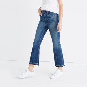 Retro Crop Bootcut Jeans in Callahan Wash