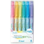 Pilot Highlighter Frixion Light, 6 Soft Color Set