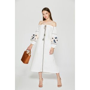 Off Shoulder Embroidery Dress DR6534 – FEW MODA