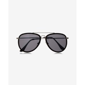 Textured Arm Aviator Sunglasses