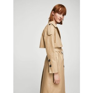 Double breasted trench - Women | MANGO USA