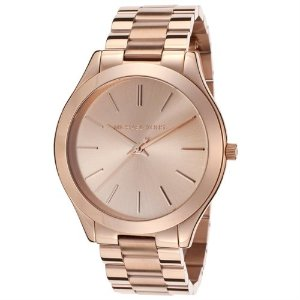 $94.91Michael Kors Slim Runway 玫瑰金色不锈钢女款休闲腕表