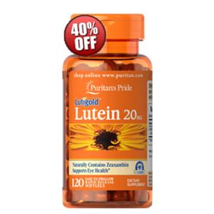 Lutein 20 mg with Zeaxanthin 120 Softgels | Eye Health Supplements | Puritan's Pride