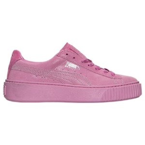 Women's Puma Suede Platform Reset Casual Shoes