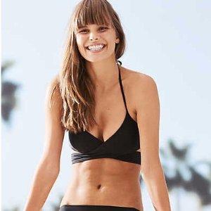 Aerie Scoop Wraparound Bikini Top, True Black | Aerie for American Eagle