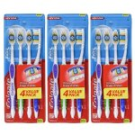 Colgate Extra Clean Full Head Toothbrush, Medium - 4 Count (3 Pack)