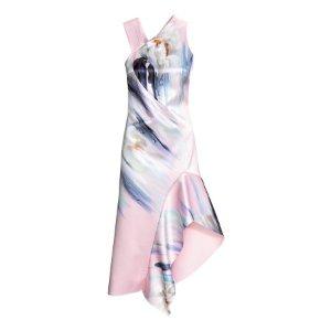 Bonded Dress | Light pink/floral | Women | H&M US