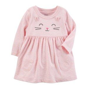 Heathered Kitty Dress