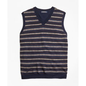 Merino Wool Fair Isle Vest - Brooks Brothers