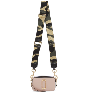 $295Marc Jacobs  Pink & Silver Small Snapshot Bag @ SSENSE