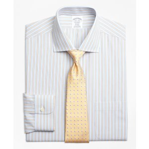 Non-Iron Regent Fit Framed Track Stripe Dress Shirts - Brooks Brothers