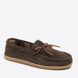 Flannel-lined moccasins : Shoes | J.Crew Factory
