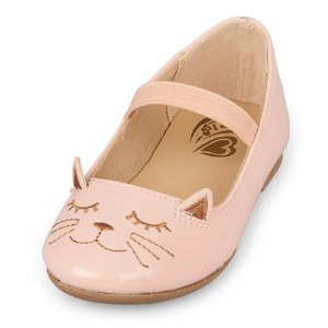 Toddler Girls Cat Graphic Kayla Ballet Flat   The Children's Place